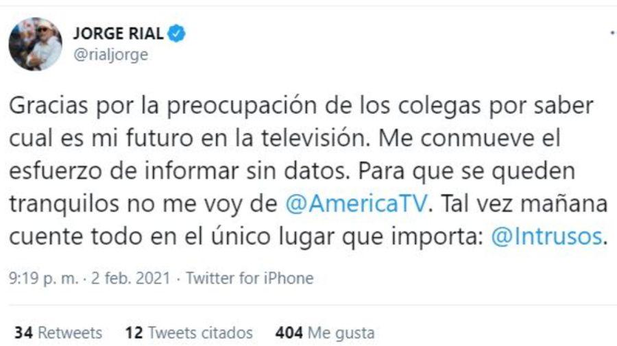 Jorge Rial respuesta rumores renuncia Intrusos