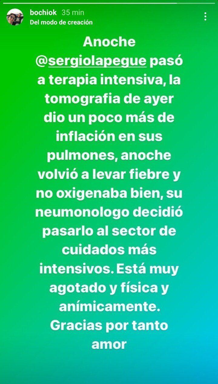 Se complicó la salud de Sergio Lapegüe: ingresó a terapia intensiva