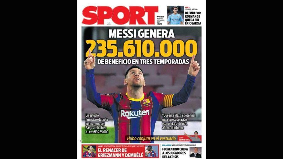 Tapa Sport Messi