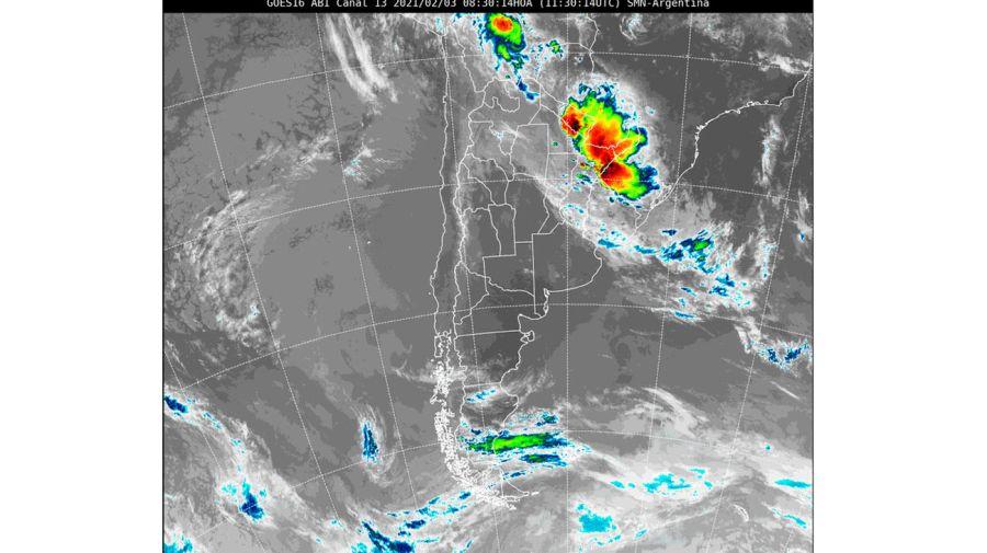 imagen satelital del clima 202100203