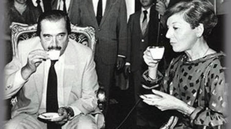 Isabelita con Raúl Alfonsín 20210203