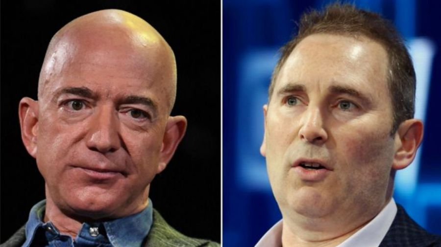 Jeff Bezos Andy Jassy Amazon