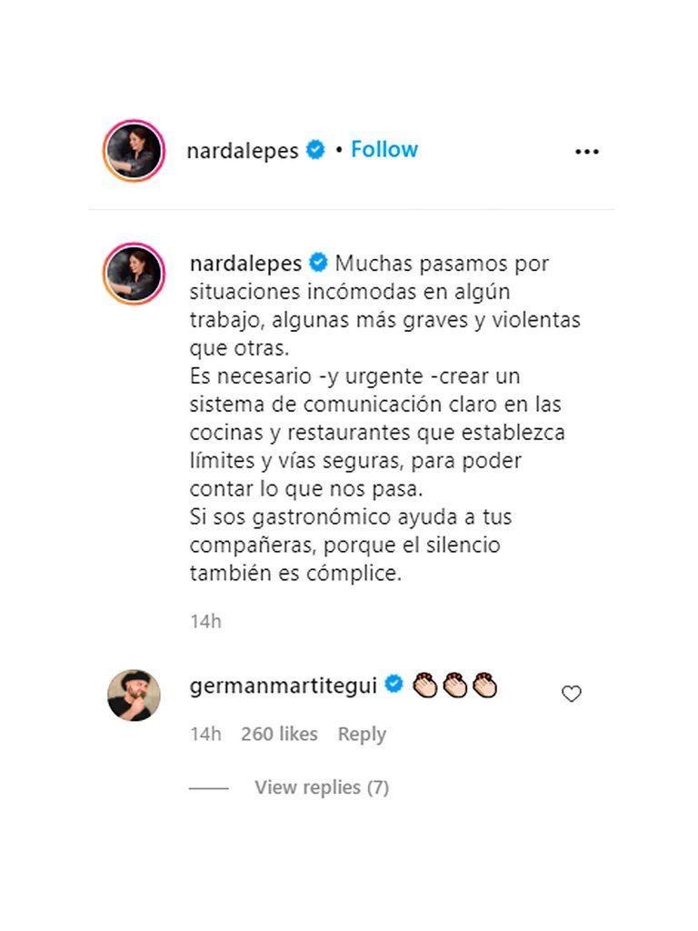 Caso Pablo Massey: el mensaje de Narda Lepes que generó la reacción de Martitegui