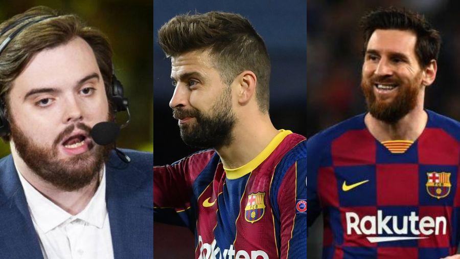 Ibai, Piqué y Messi