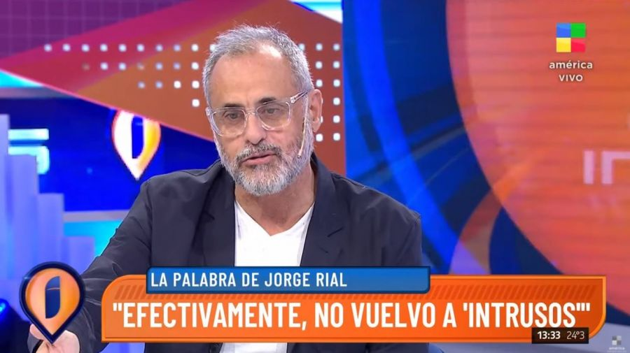 Jorge Rial renuncia Intrusos