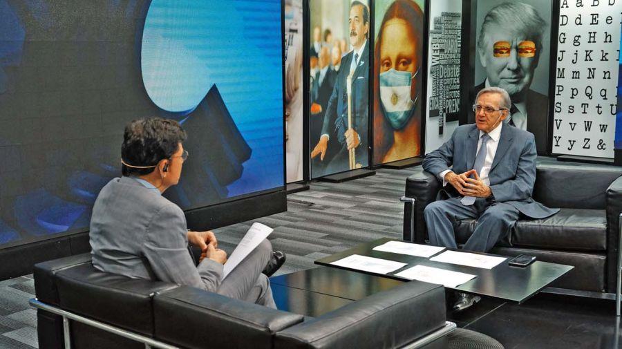 Eduardo López, en la entrevista con Jorge Fontevecchia.