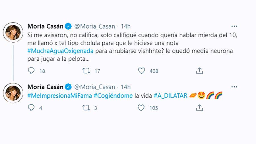 Moria Casán tuit 0502