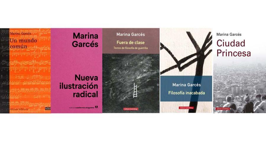 Libros de la filósofa Marina Garcés.