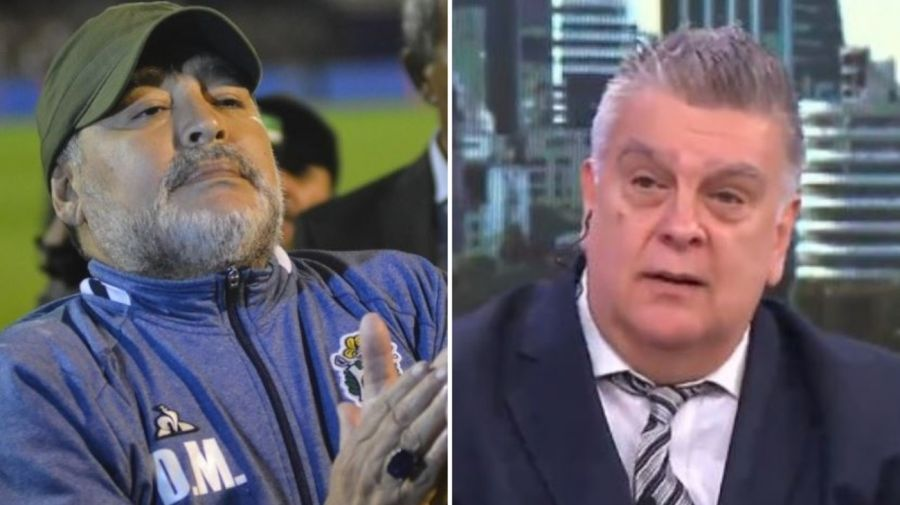 Diego Maradona y Luis Ventura