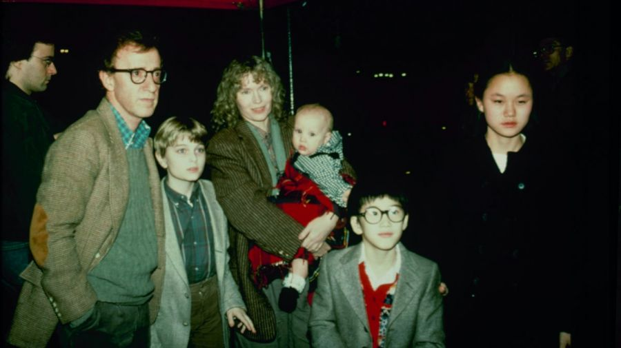 Woody Allen, Mia Farrow y Soon Yi