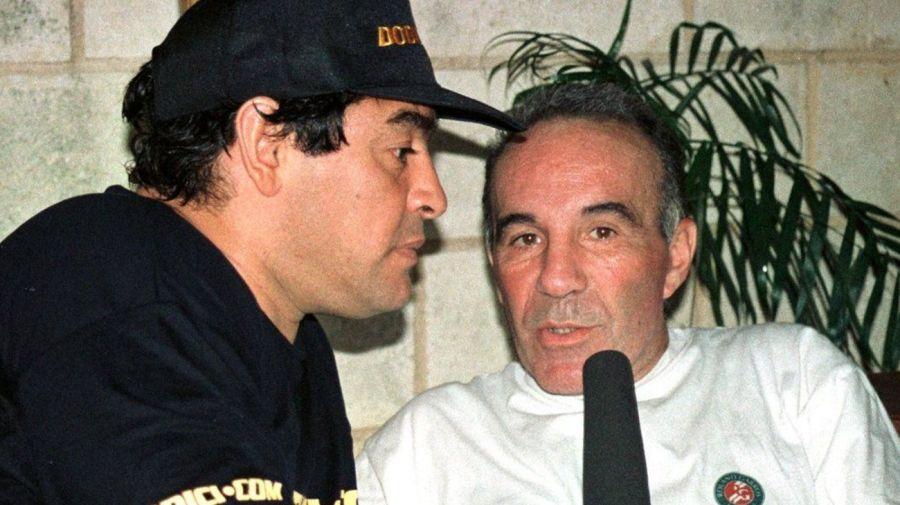 Diego Maradona y Alfredo Cahe