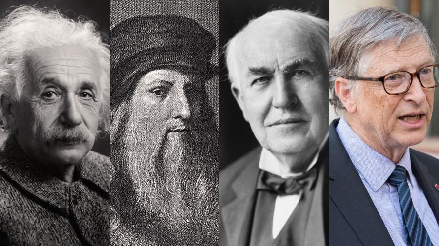 Friso Albert Einstein, Leonardo Da Vinci, Thomas Edison y Bil Gates 20210208