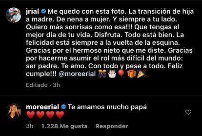 Jorge Rial emocionado por el cumpleaños de Morena