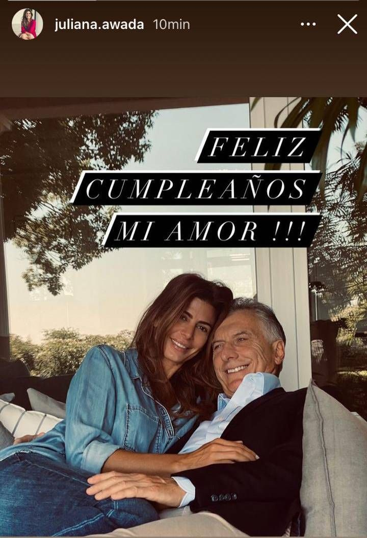 Juliana Awada dedicó un romántico mensaje a Mauricio Macri en su cumpleaños