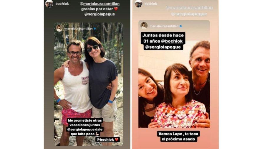 Mensajes Maria Laura Santillan a Sergio Lapegue