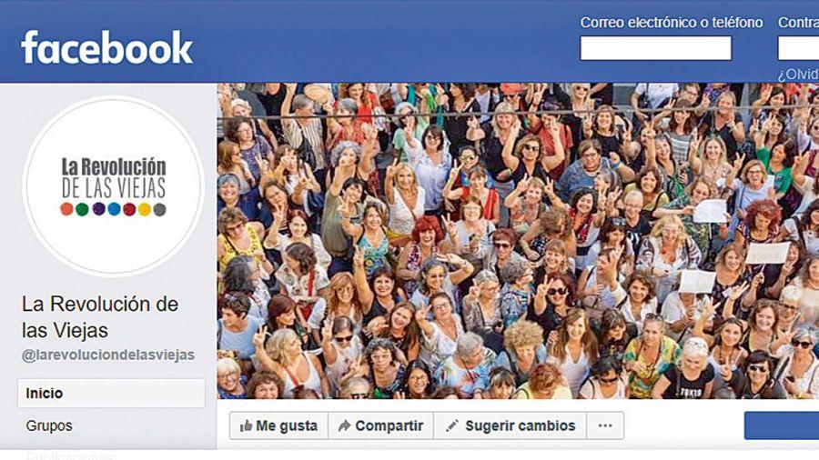 La páginad eFacebook