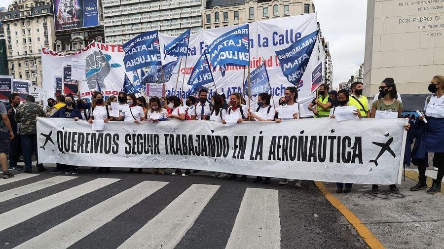 Protestas en el centro porteño 20210211