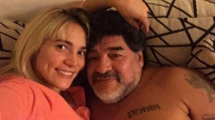 Rocio Oliva y Diego Maradona