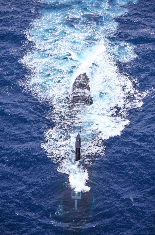 Submarino estadounidense USS Greeneville.