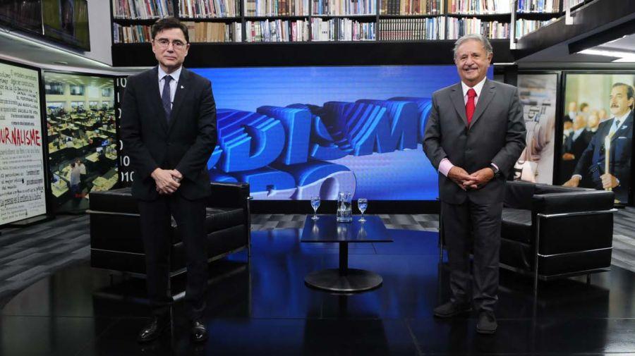 El expresidente Eduardo Duhalde, en la entrevista con Jorge Fontevecchia.