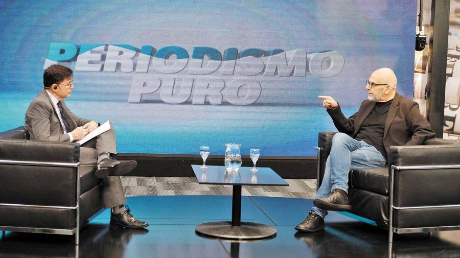 Javier Grosman, en la entrevista con Jorge Fontevecchia.