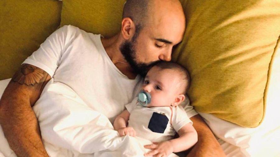 Abel Pintos y su hijo Agustin