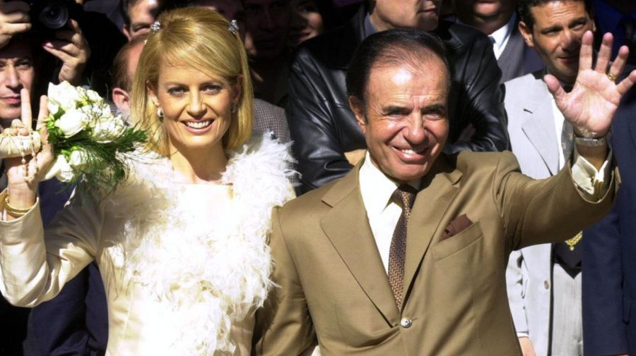 Cecilia Bolocco y Carlos Menem