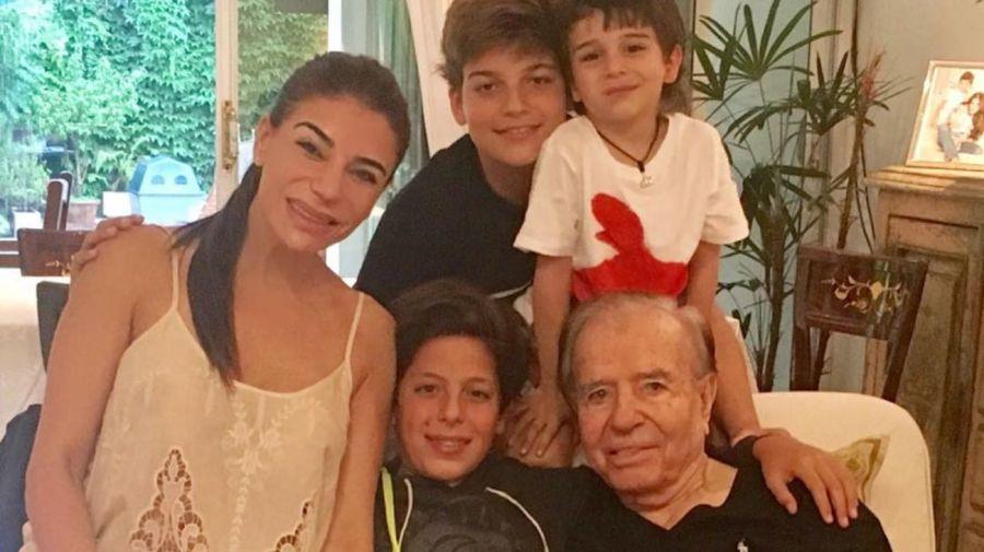 Zulemita, Maximo y Carlos Menem