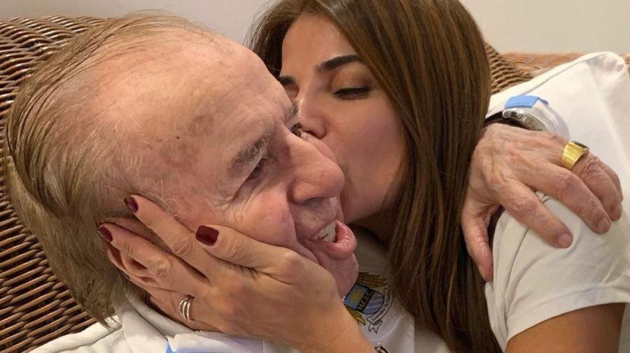 Zulemita y Carlos Menem