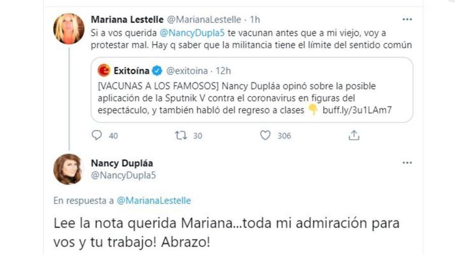 Cruce Mariana Lestelle y Nancy Duplaa