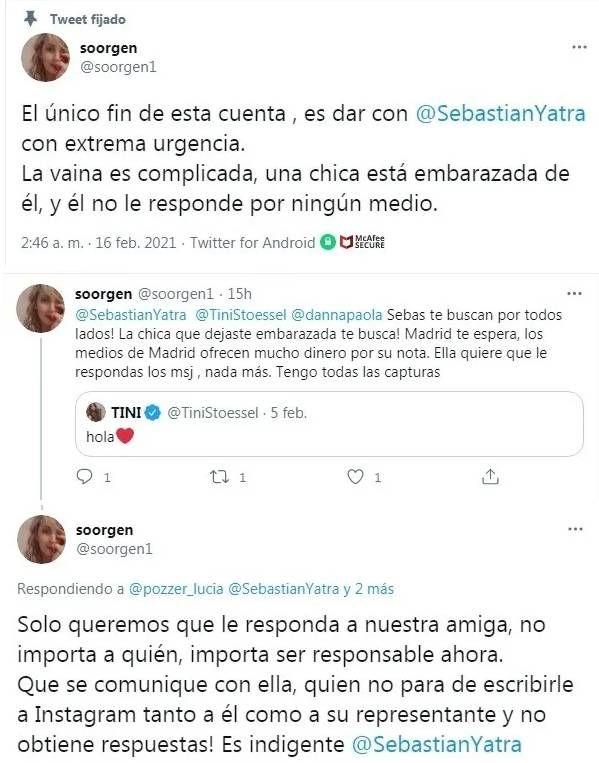 Fuerte denuncia contra Sebastián Yatra se hizo viral en redes sociales