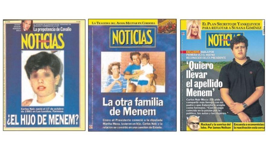 Tapas revista Noticias - Carlos Nair Meza Menem