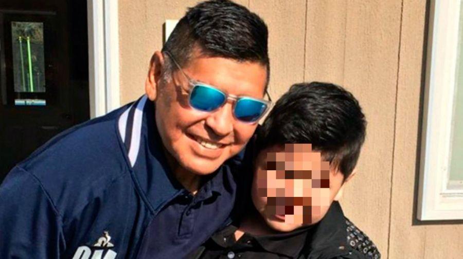 Dieguito Fernando y Diego Maradona