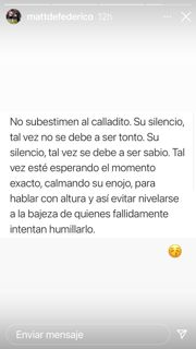 El contundente mensaje de Matías Defederico en pleno conflicto con Cinthia Fernández
