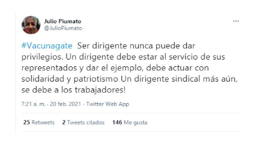 Piumato Moyano Twitter Vacunación