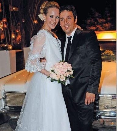 Julieta Prandi y Claudio Contardi en otros tiempos.