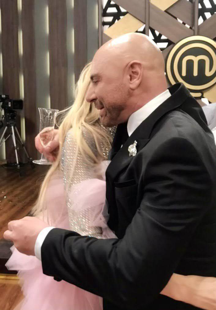 Masterchef: Germán Martitegui compartió una comprometida foto con Vicky Xipolitakis