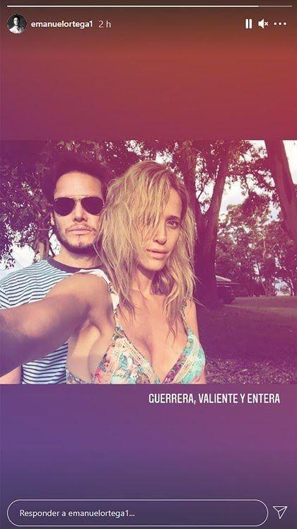 Emanuel Ortega respaldó a Julieta Prandi tras el episodio con su exmarido