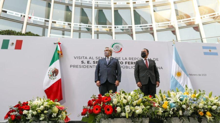 Alberto Fernández Viaje México