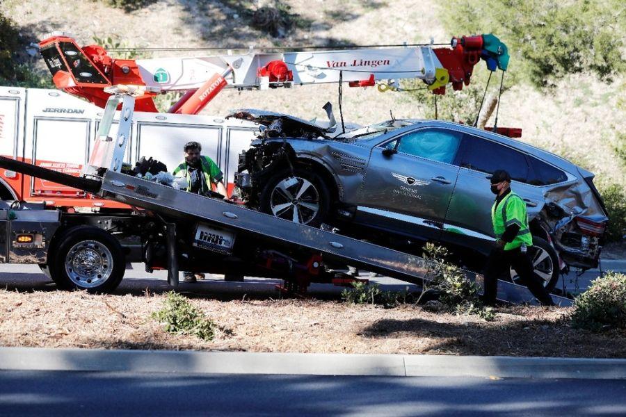 El grave accidente automovilístico de Tiger Woods