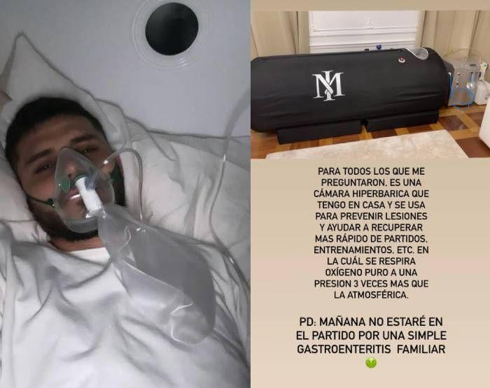 Con una máscara de oxígeno: la preocupante foto de Mauro Icardi que asustó a sus fans