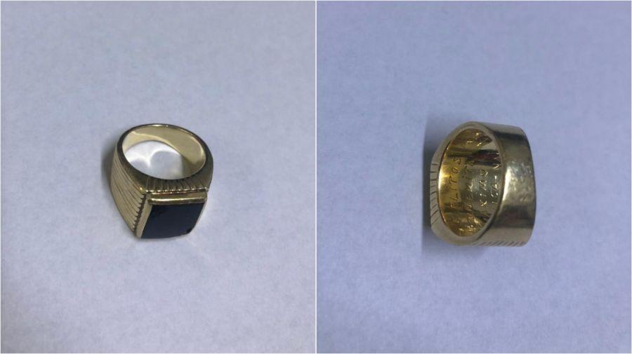 El anillo sustraído tenía una inscripción con el nombre de los hijos del ex presidente.