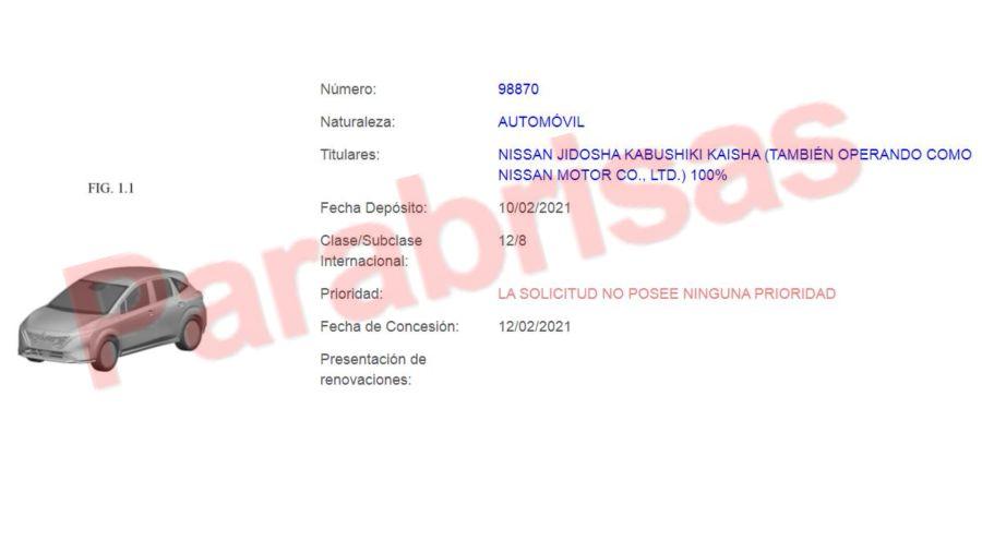 Nissan Note registrado en Argentina