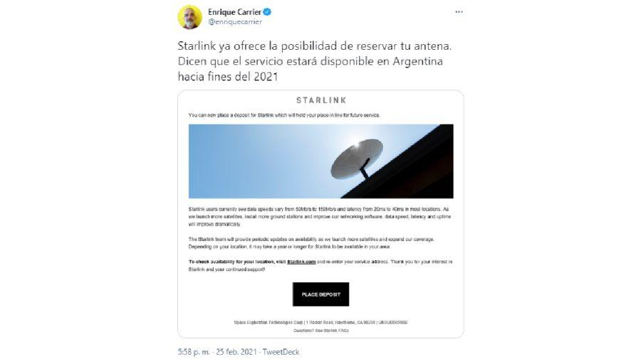 Starlink Internet Argentina