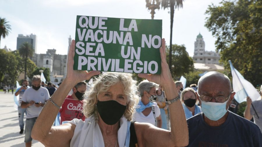 anti government protest vip vaccines