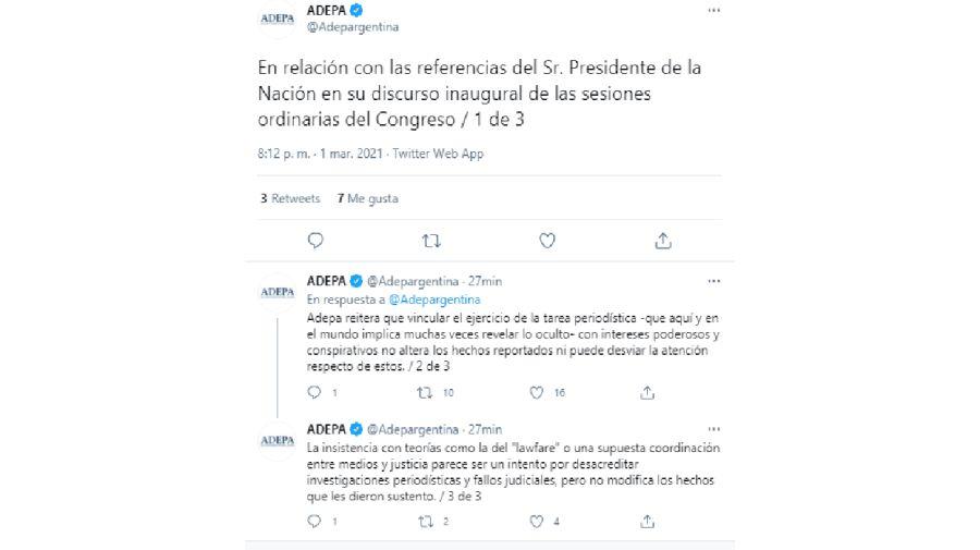 ADEPA Fernández Sesiones Ordinarias