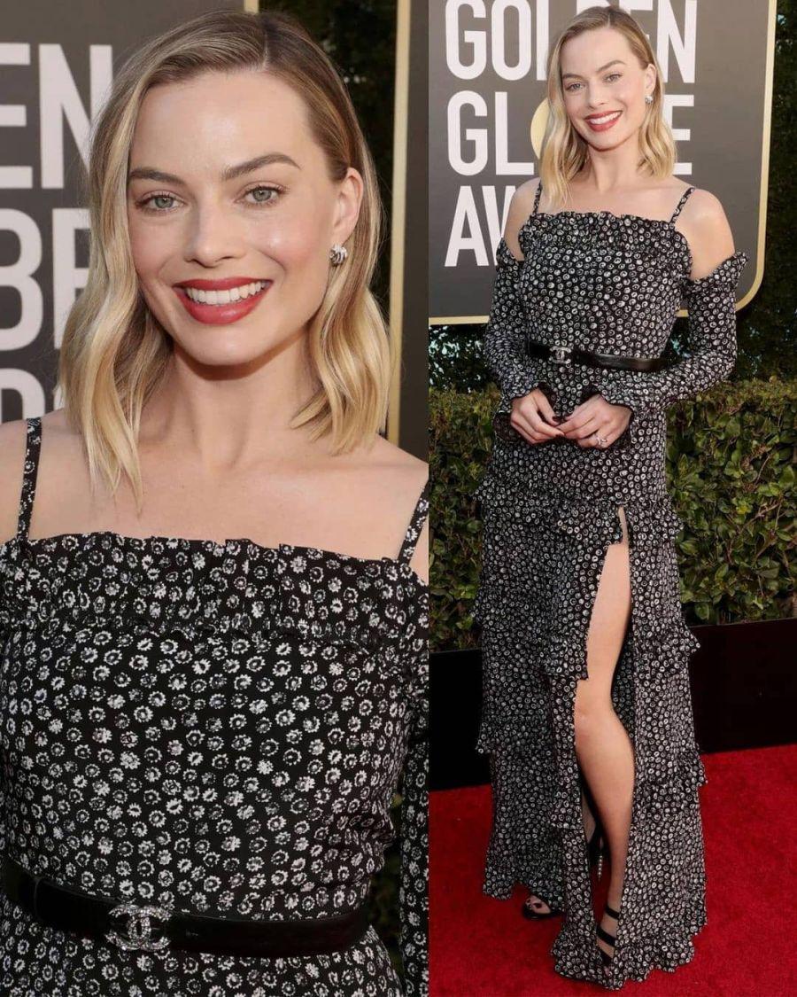 Golden Globes: Margot Robbie lució una pieza de Chanel con un guiño argentino
