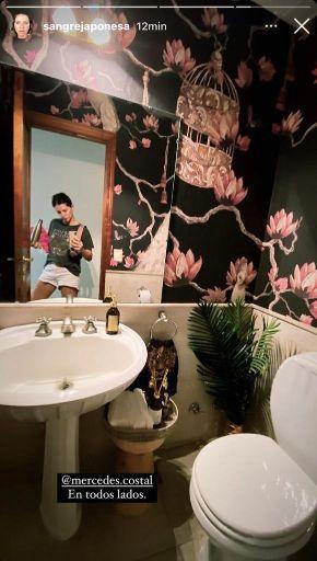 Así es el toilette chic de la residencia de la China Suárez y Benjamín Vicuña