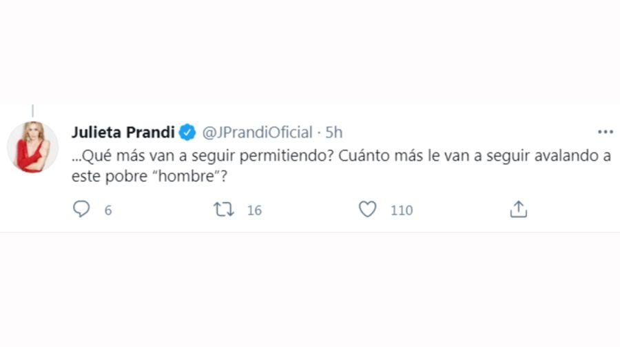 Julieta Prandi tuit