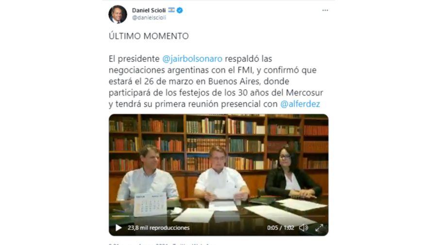 Bolsonaro Apoyo FMI